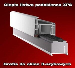 Ciepła listwa podokienna XPS gratis do wszystkich okien 3-szybowych zamówionych od 15 kwietnia 2015 do odwołania (gdy montujemy w stan surowy).